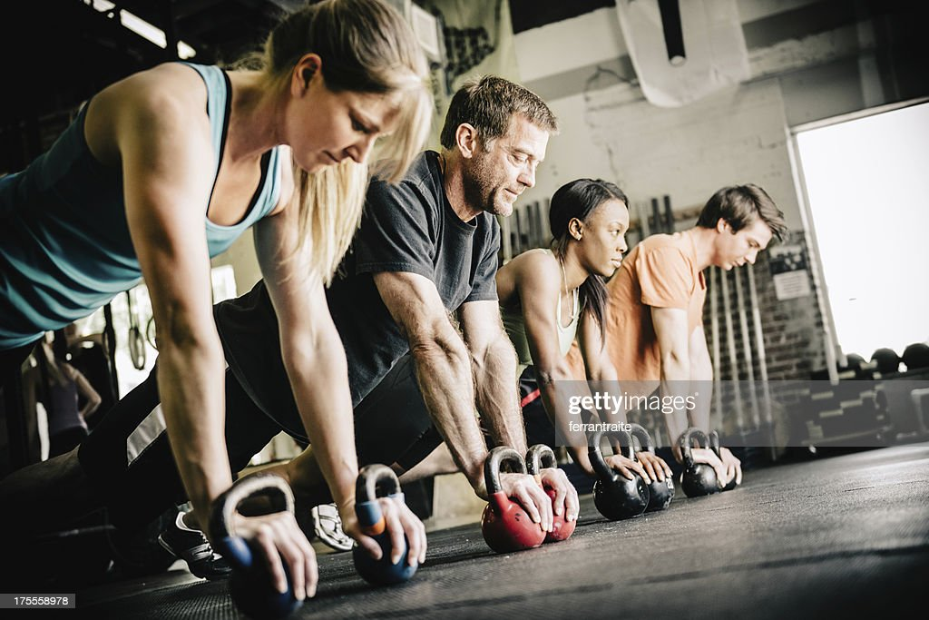 CrossFit Training Push-Ups : Stock-Foto