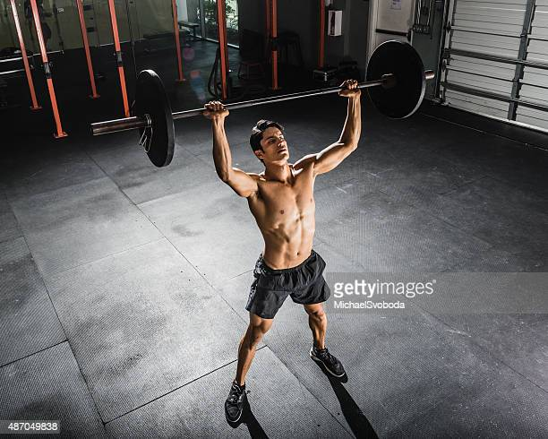 gym Training with a Barbell