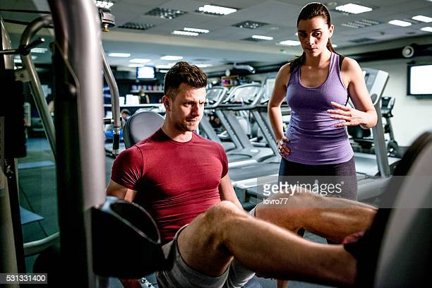 Gym with trainer