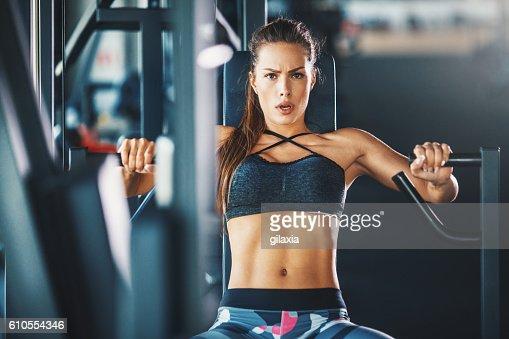 Gym workout. : Stock Photo