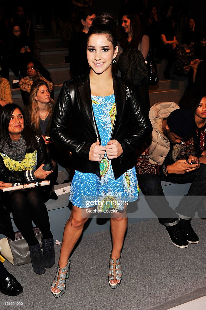 Gymnast Alexandra Raisman attends the Nanette Lepore Fall 2013 fashion show during Mercedes-Benz Fashion Week at The Stage at Lincoln Center on February 13, 2013 in New York City.