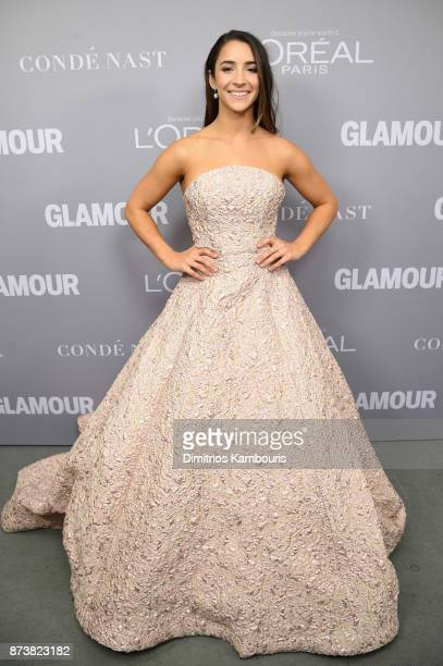 Gymnast Aly Raisman poses backstage at Glamour's 2017 Women of The Year Awards at Kings Theatre on November 13 2017 in Brooklyn New York