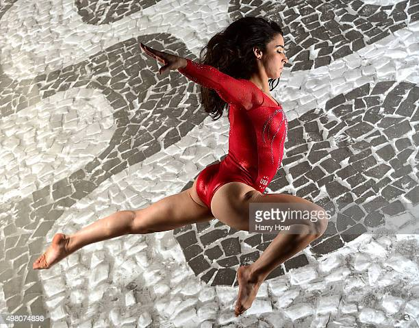 Gymnast Aly Raisman poses for a portrait at the USOC Rio Olympics Shoot at Quixote Studios on November 20 2015 in Los Angeles California