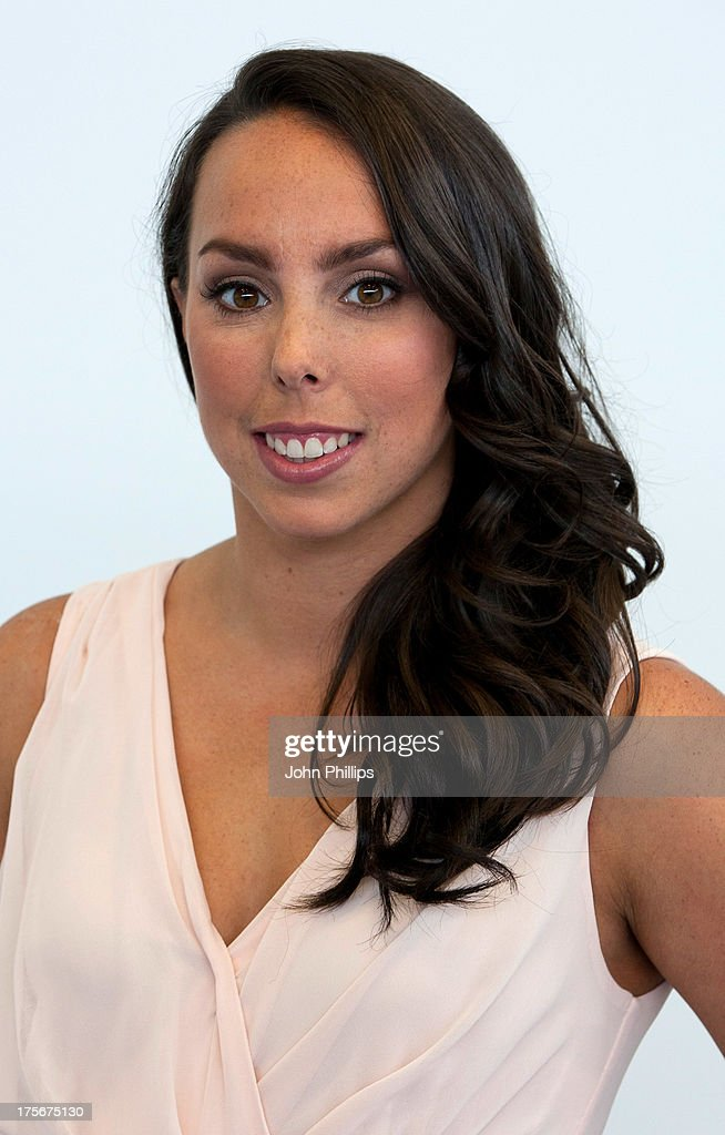 Gymnast Beth Tweddle attends a photocall after announcing her retirement at Chobham Academy on August 6, 2013 in London, England.