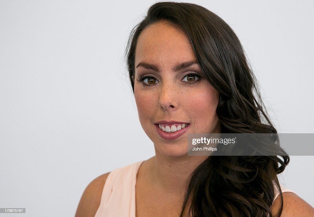 Gymnast <a gi-track='captionPersonalityLinkClicked' href=/galleries/search?phrase=Beth+Tweddle&family=editorial&specificpeople=804240 ng-click='$event.stopPropagation()'>Beth Tweddle</a> attends a photocall after announcing her retirement at Chobham Academy on August 6, 2013 in London, England.