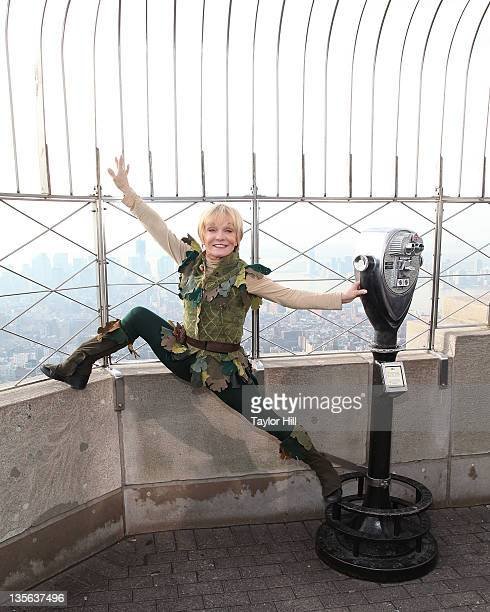 Gymnast Cathy Rigby as Peter Pan visits the Empire State Building on December 12 2011 in New York City