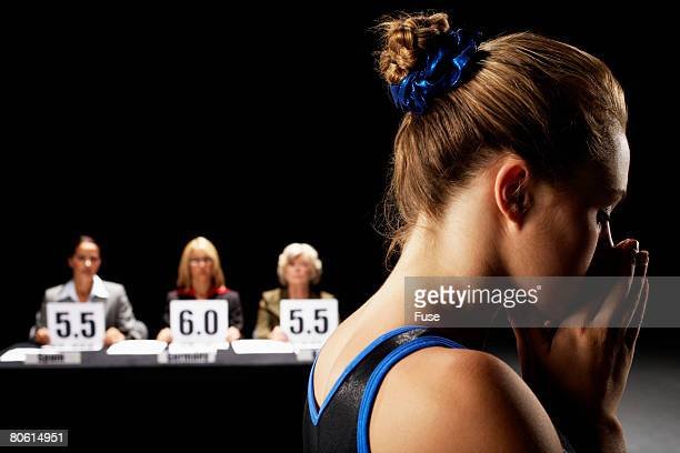 Gymnast Disappointed with Low Scores