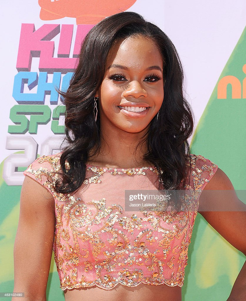 Gymnast Gabby Douglas attends the 2014 Nickelodeon Kids' Choice Sports Awards at Pauley Pavilion on July 17, 2014 in Los Angeles, California.