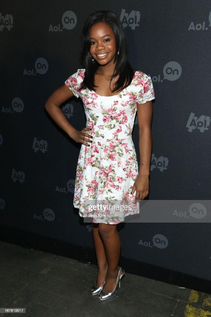 Gymnast Gabby Douglas attends the AOL 2013 Digital Content NewFront on April 30, 2013 in New York City.