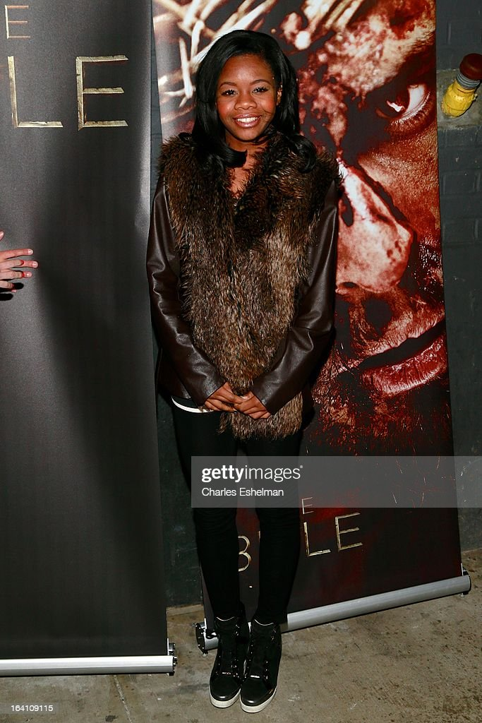 Gymnast Gabby Douglas attends 'The Bible Experience' Opening Night Gala at The Bible Experience on March 19, 2013 in New York City.