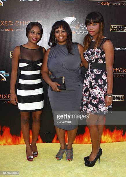 Gymnast Gabby Douglas with her mother and sister attend The 6th Annual Diamond In The RAWAction Icon Awards at Skirball Cultural Center on November...