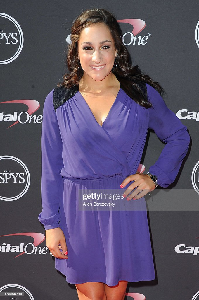 Gymnast Jordyn Wieber arrives at the 2013 ESPY Awards at Nokia Theatre L.A. Live on July 17, 2013 in Los Angeles, California.