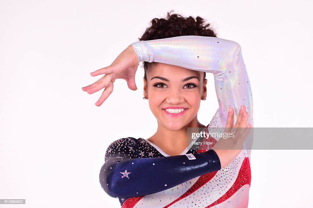 Gymnast Laurie Hernandez poses for a portrait on October 5, 2016 in Los Angeles, California. Hernandez, from Old Bridge Township, New Jersey, won a gold medal in the team event for the United States and silver on the balance beam at the Rio 2016 Olympic Games. She is also competing on season 23 of Dancing with the Stars.