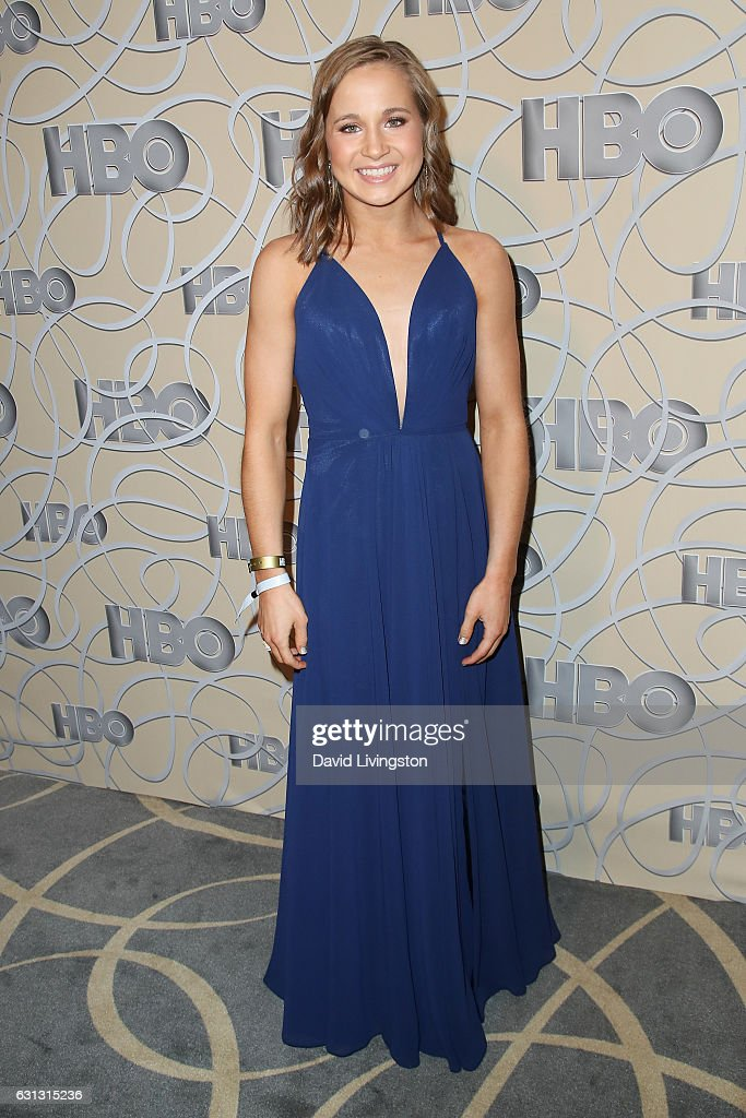 Gymnast Madison Kocian arrives at HBO's Official Golden Globe Awards after party at the Circa 55 Restaurant on January 8, 2017 in Los Angeles, California.