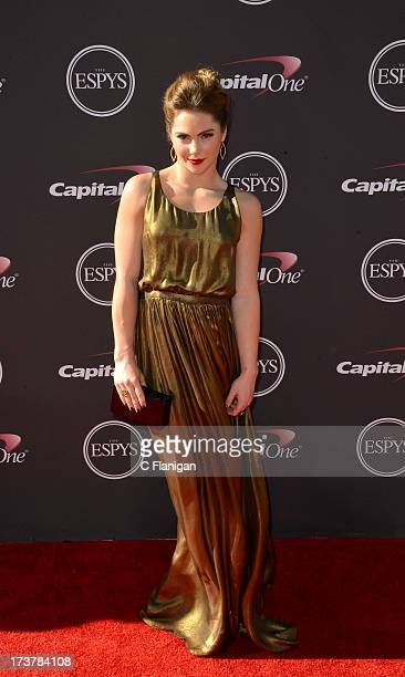 US gymnast McKayla Maroney arrives at the 2013 ESPY Awards at Nokia Theatre LA Live on July 17 2013 in Los Angeles California