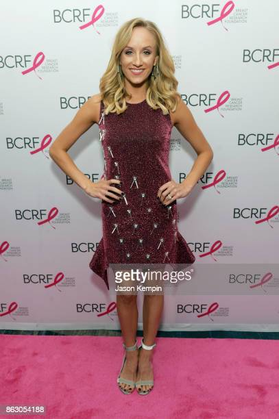 Gymnast Nastia Liukin arrives at the Breast Cancer Research Foundation New York Symposium and Awards Luncheon at New York Hilton on October 19 2017...