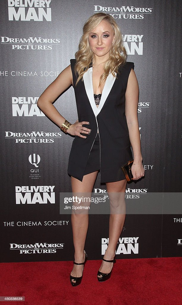 Gymnast Nastia Liukin attends the DreamWorks Pictures and The Cinema Society screening of 'Delivery Man' at Paley Center For Media on November 17, 2013 in New York City.