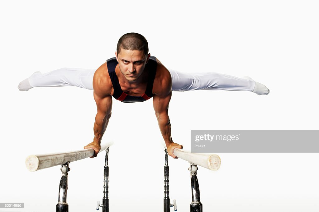 Gymnast on Parallel Bars