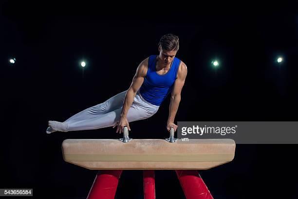 Gymnaste sur Cheval-d'arçons