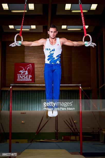 Gymnast Samir Ait Said is photographed for Paris Match on June 20 2016 in Paris France