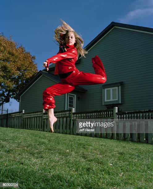 Gymnast Shawn Johnson poses at a portrait session in West Des Moines Iowa