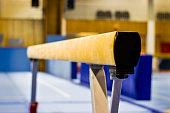 Gymnastic equipment in a gym
