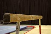 Gymnastic equipment in a club