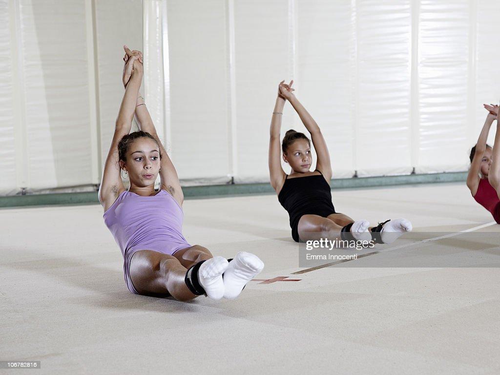 gymnastic, training, abdominals,  : Stock Photo
