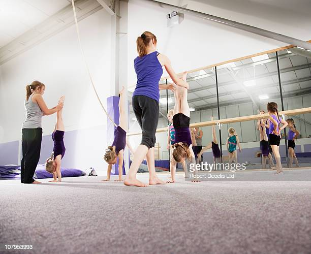 Gymnastic training session