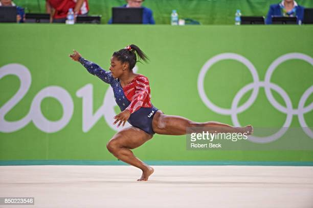 2016 Summer Olympics USA Simone Biles in action during Floor Exercise of Women's Qualification at Rio Olympic Arena Rio de Janeiro Brazil 8/7/2016...
