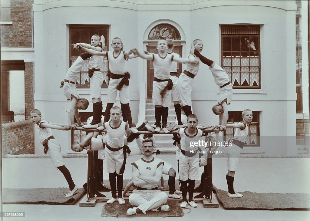 Gymnastics Display At The Boys Home Industrial School Regents Park Road London 1900
