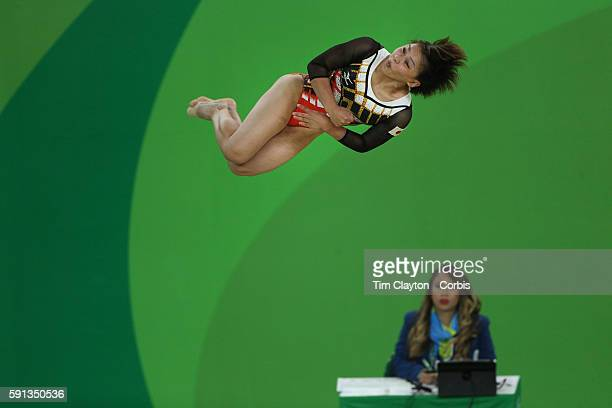 Day 11 Mai Murakami of Japan performs her routine on the floor exercise during the Apparatus Finals at the Rio Olympic Arena on August 16 2016 in Rio...
