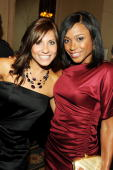 Gymnasts Ashley Kupets and Dominique Dawes attend the 30th Annual Salute To Women In Sports Awards at The Waldorf=Astoria on October 13 2009 in New...