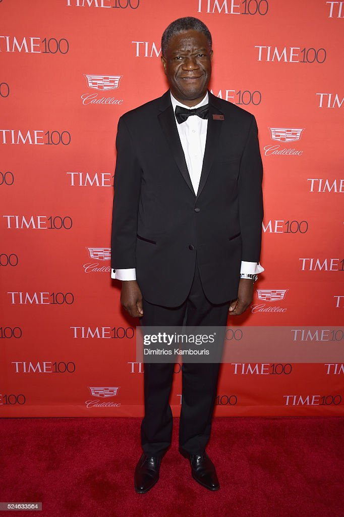 Gynecologist <a gi-track='captionPersonalityLinkClicked' href=/galleries/search?phrase=Denis+Mukwege&family=editorial&specificpeople=5127888 ng-click='$event.stopPropagation()'>Denis Mukwege</a> attends 2016 Time 100 Gala, Time's Most Influential People In The World red carpet at Jazz At Lincoln Center at the Times Warner Center on April 26, 2016 in New York City.