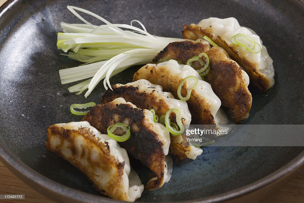 Gyoza or Potstickers  Close-up : Stock Photo