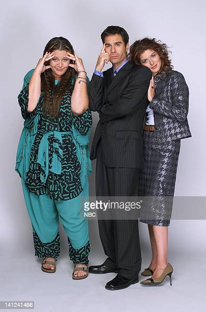 WILL GRACE 'Gypsies Tramps and Weed' Episode 7 Pictured Camryn Manheim as Psychic Sue Eric McCormack as Will Truman Debra Messing as Grace Adler...