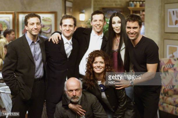 WILL GRACE 'Gypsies Tramps and Weed' Episode 7 Pictured David Kohan Max Mutchnick Sean Hayes Cher Eric McCormack James Burrows Megan Mullally Photo...