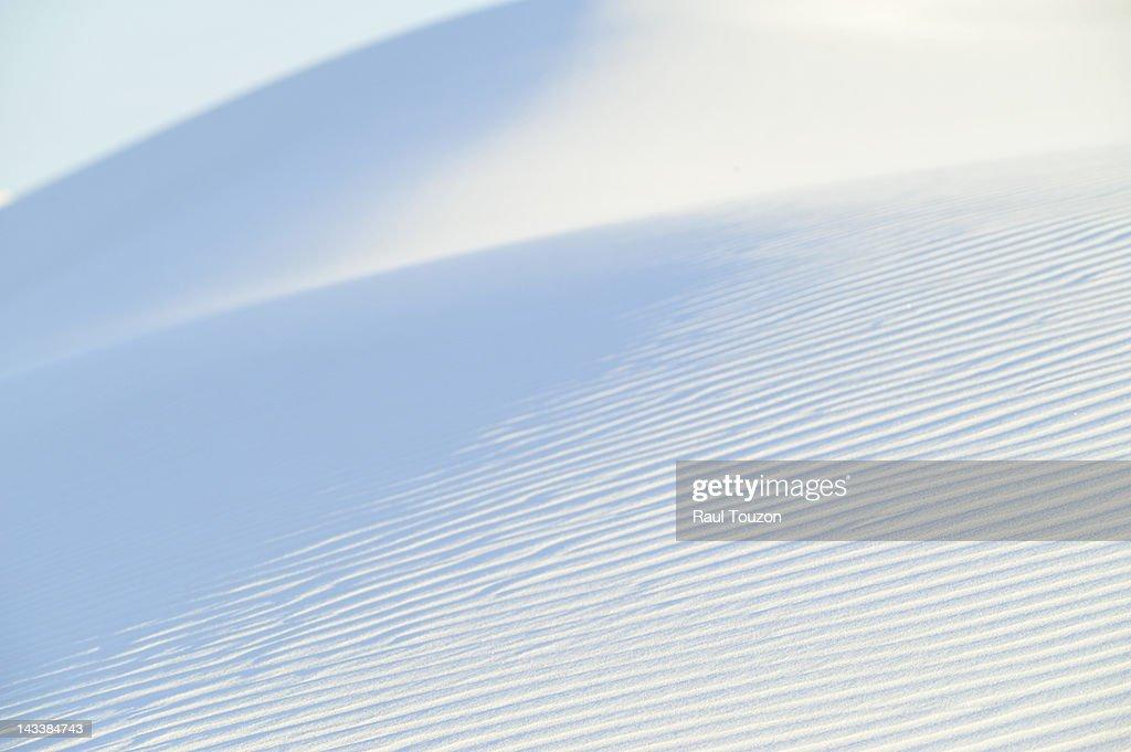 Gypsum sand dunes. : Stock Photo
