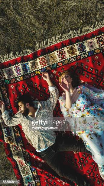 Gypsy couple in nature