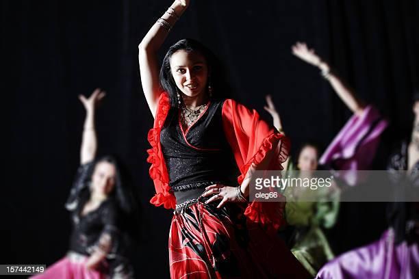 Gypsy dances on a black background