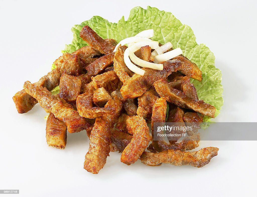 Gyros with onions, close-up : Stock Photo