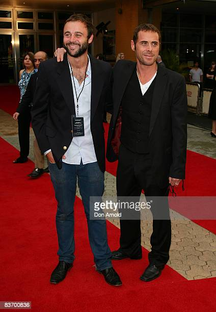 Gyton Grantley and Marcus Graham arrive for the Australian premiere of 'Quantum of Solace' at the Hoyts Cinema in the Entertainment Quarter on...