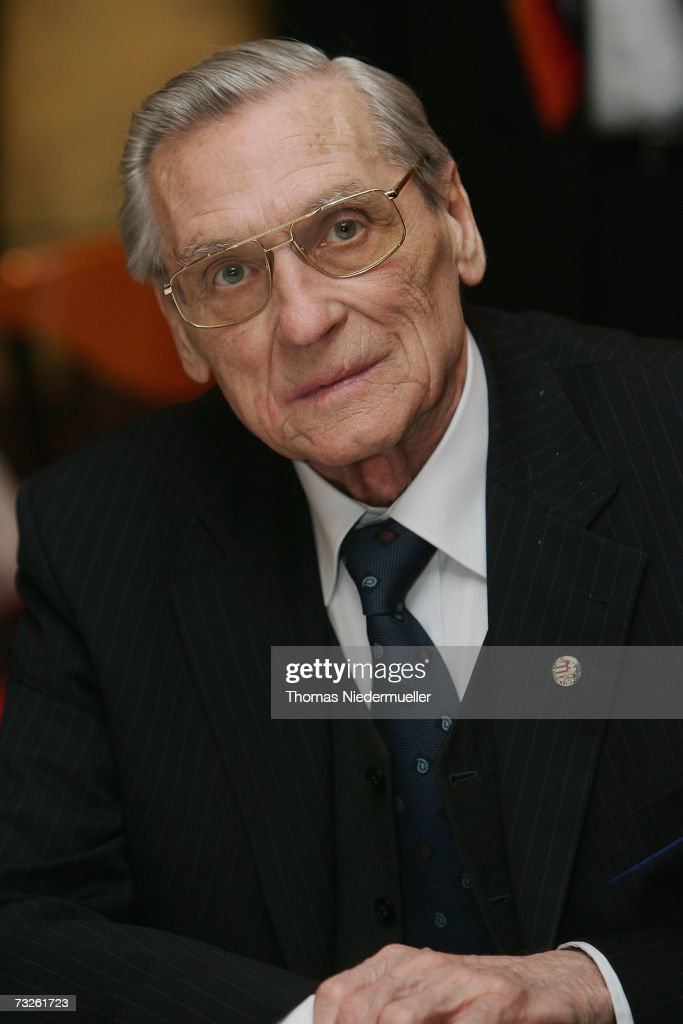 Gyula Grosics, former Hungarian National player, poses for the media during the reception for the 75th Birthday of former German National player and World Cup Winner 1954, Horst Eckel, on February 8, 2007 in Kaiserslautern, Germany.