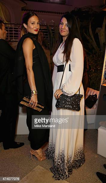 Gyunel Rustamova and guest attend the De Grisogono Divine In Cannes Dinner Party at Hotel du CapEdenRoc on May 19 2015 in Cap d'Antibes France