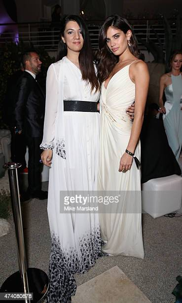 Gyunel Rustamova and Sara Sampaio attend the De Grisogono Divine In Cannes Dinner Party at Hotel du CapEdenRoc on May 19 2015 in Cap d'Antibes France