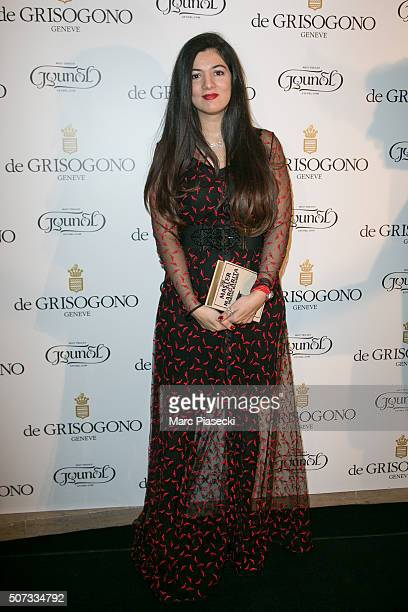 Gyunel Rustamova attends the 'De Grisogono' La Boetie cocktail on January 28 2016 in Paris France