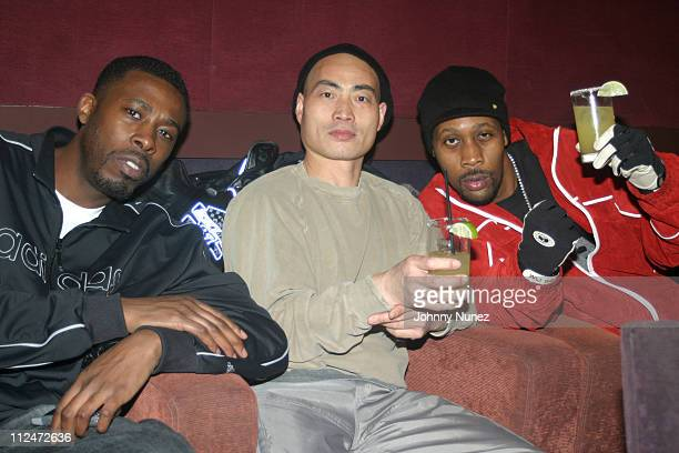 Gza Shi Yan Ming of Shaolin Monks and Rza during Rza and Trace Magazine Host 'Kill Bill Vol 2' Private Screening at Tribeca Screening Room in New...