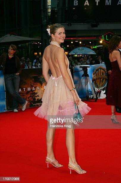 Gzsz Nina Bott On In The Germany premiere of 'Batman Begins' in the Sony Center in Berlin 150605