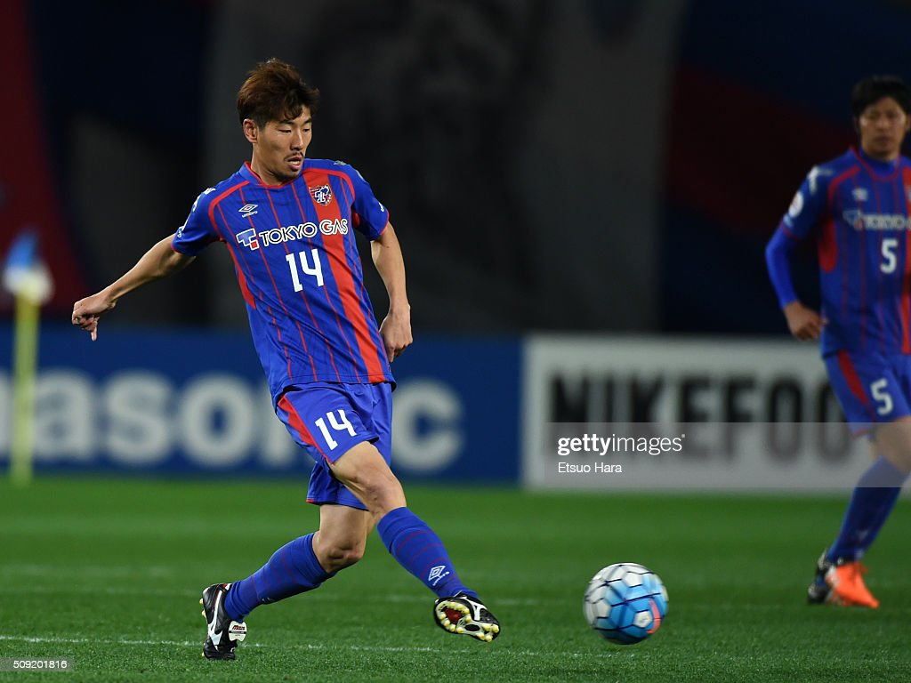 Ha Daesung of FC Tokyo in action during the AFC Champions League playoff round match between FC Tokyo and Chonburi FC at the Tokyo Stadium on February 9, 2016 in Chofu, Japan.