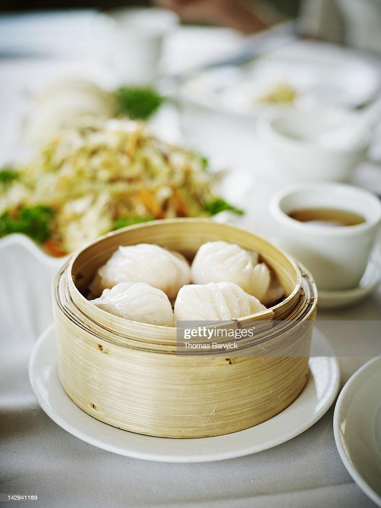 Ha Gao steamed shrimp dumplings : Stock Photo